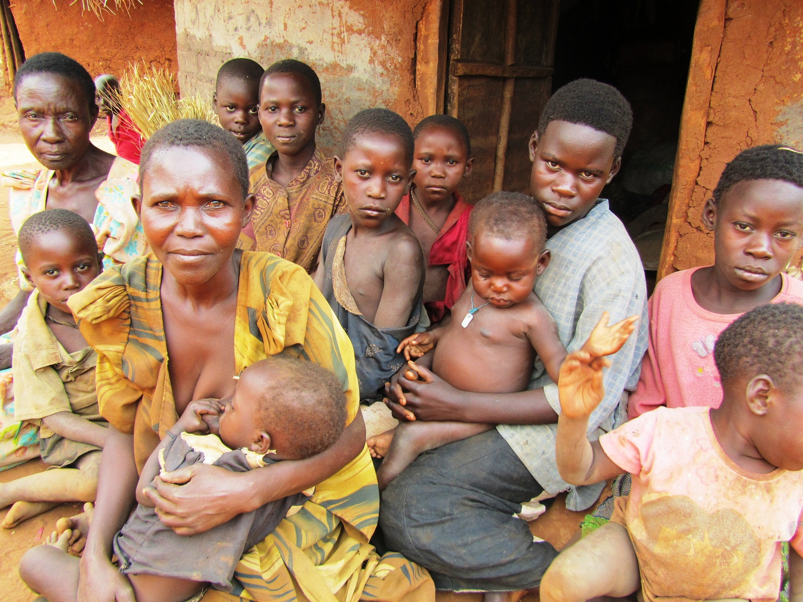 Granny Getulida and family of 14 orphans